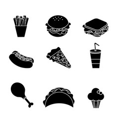 contour fast food background icon vector image