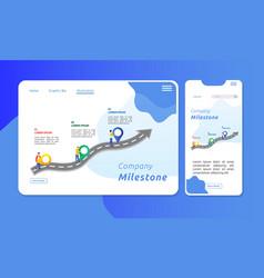corporate milestone vector image