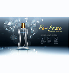 cosmetic glass packaging soft spray vector image