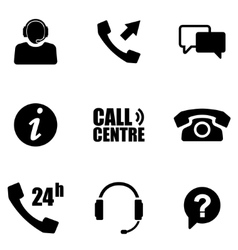 customer service icons set vector image