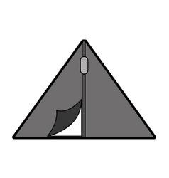 cute camping tent cartoon vector image