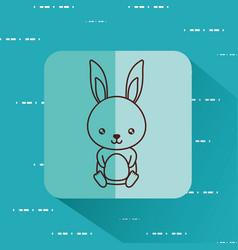Cute rabbit icon image vector
