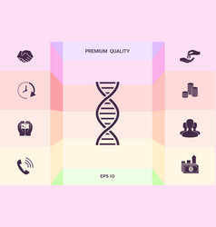 dna symbol icon graphic elements for your design vector image