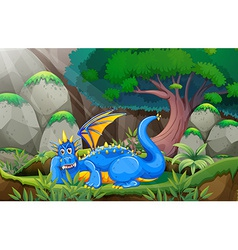 Dragon and forest vector