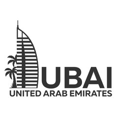 Dubai logo uae united arab emirates vector