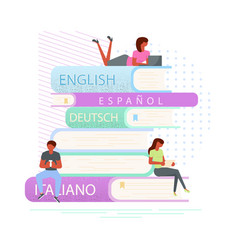 e-book concept for digital library vector image