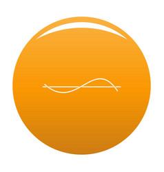 Equalizer meter icon orange vector
