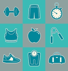 Fitness background boxes vector