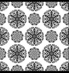 floral black and white seamless pattern vector image