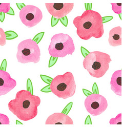 Flower watercolor seamless pattern background vector