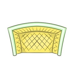 Football goal icon cartoon style vector
