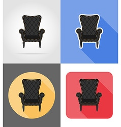 furniture flat icons 02 vector image