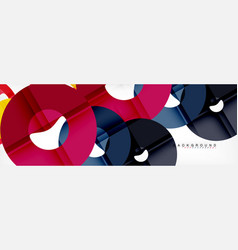 Geomtric modern backgrounds rings abstract vector