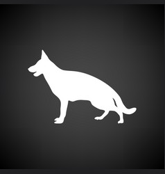 German shepherd icon vector
