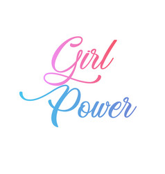 girl power motivational quote in pink letters vector image