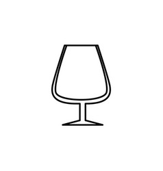 goblet glass icon can be used for web logo mobile vector image