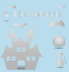 Halloween paper art vector