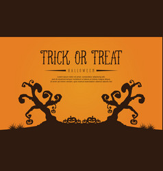 halloween with tree style background vector image