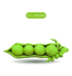 Icon of plasticine peas vector