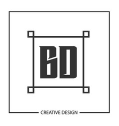 initial letter bd logo template design vector image