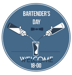 Invitation international bartenders day vector