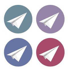 isolated plane icons set vector image