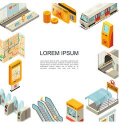 isometric metro colorful template vector image