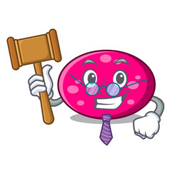 judge ellipse mascot cartoon style vector image