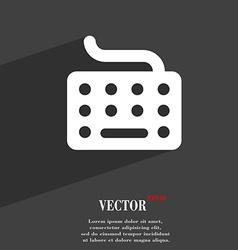 keyboard icon symbol Flat modern web design with vector image