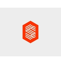 Letter S logo icon design Creative line vector