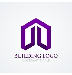 logo design building vector image