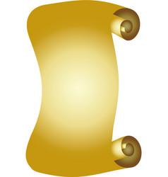 Luxurious golden scroll vector
