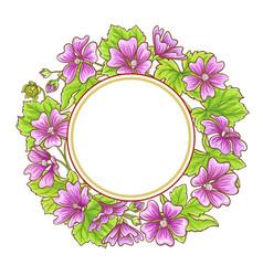 malva frame vector image