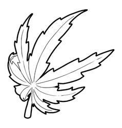 Marijuana leaf icon outline style vector