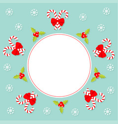 Merry christmas candy cane stick with red bow vector