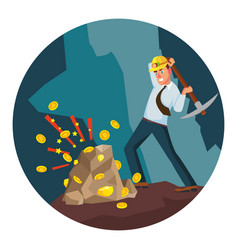 miner man modern miner businessman vector image