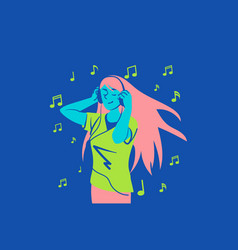 music dream relax concept vector image