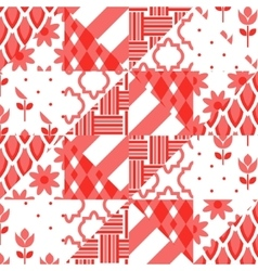 Patchwork quilt pattern tiles vector