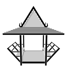 Pavilion thai gazebo rest area vector
