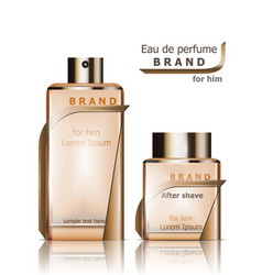 Perfume bottles product packaging vector