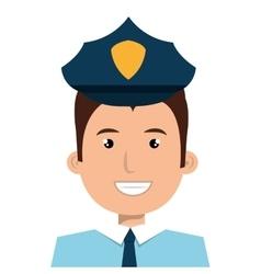 Police officer cartoon graphic design vector