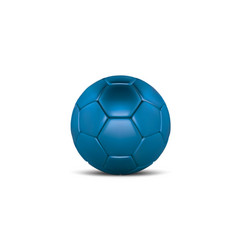 purple bue soccer ball on white background vector image