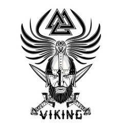 Rawen viking sword triskelion vector