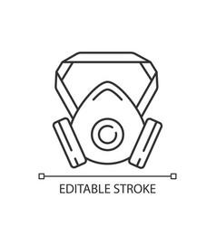 Respirator linear icon vector