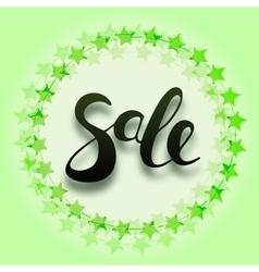 Sale Hand lettering design vector image vector image