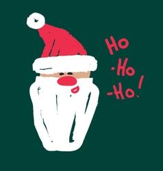 Santa ho-ho-ho vector