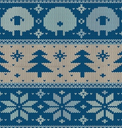 Scandinavian seamless knitted pattern vector image