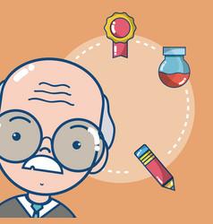 School teacher cartoon vector
