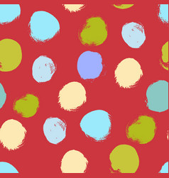 Seamless colorful pattern with abstract circles vector