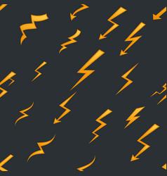 seamless pattern lightning thunder bolt pictograph vector image